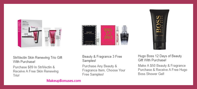 Receive a free 3-pc gift with your $89 StriVectin purchase