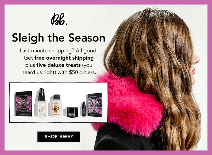 Receive a free 5-pc gift with your $50 Bumble and bumble purchase