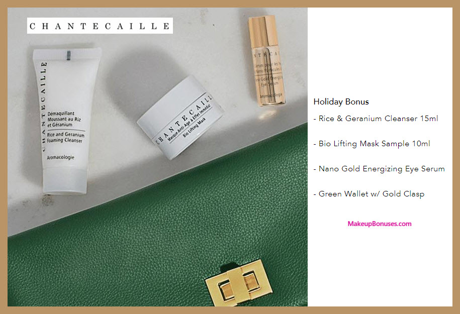 Receive a free 4-pc gift with your $125 Chantecaille purchase