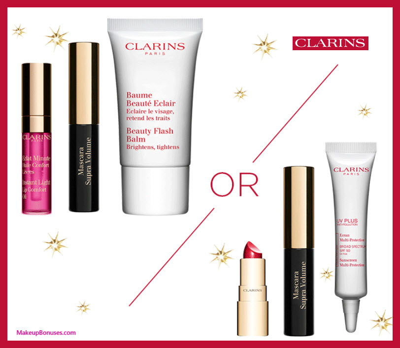 Receive your choice of 3-pc gift with $100 Clarins purchase