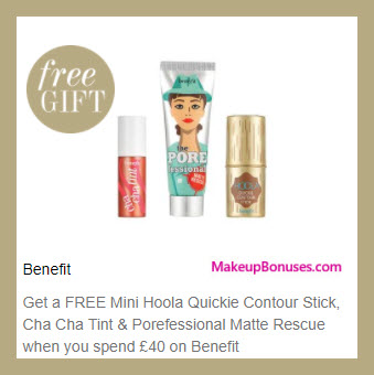 Receive a free 3-pc gift with your ~$54 (40 GBP) purchase