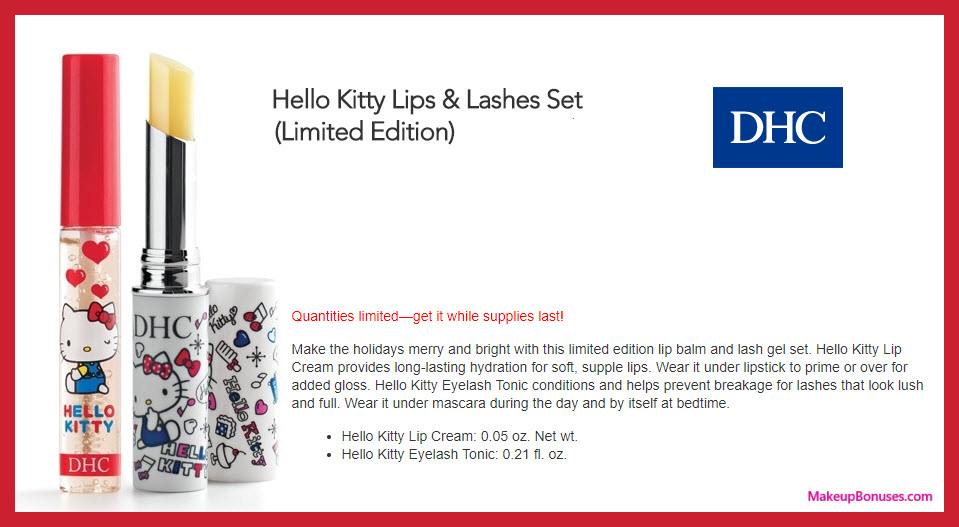 Hello Kitty Eyelash Tonic & Hello Kitty Lip Cream - MakeupBonuses.com