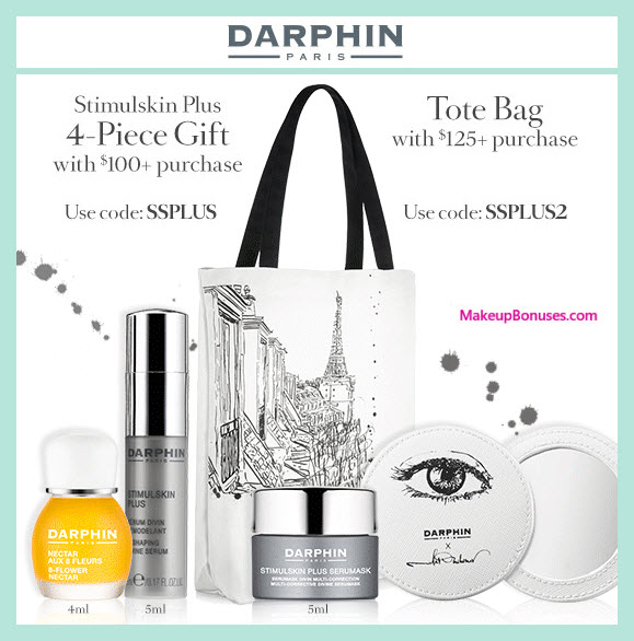 Receive a free 4-pc gift with your $100 Darphin purchase