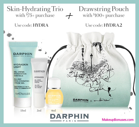 Receive a free 3-pc gift with your $75 Darphin purchase