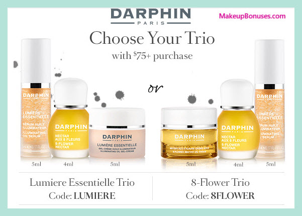 Receive your choice of 3-pc gift with your $75 Darphin purchase