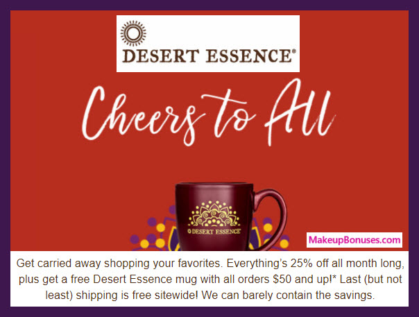 Desert Essence Sale - MakeupBonuses.com