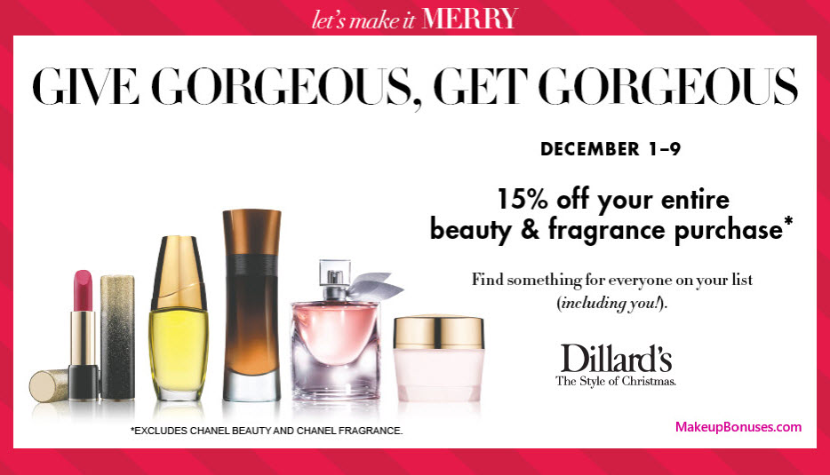 Dillard's Sale - MakeupBonuses.com