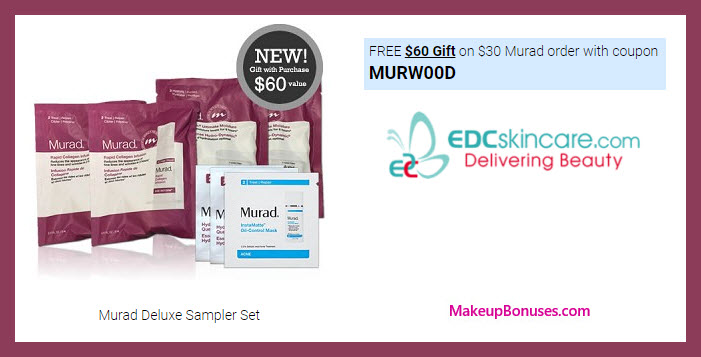 Receive a free 4-pc gift with your $30 Murad purchase