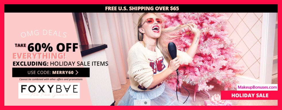 Foxybae Sale - MakeupBonuses.com