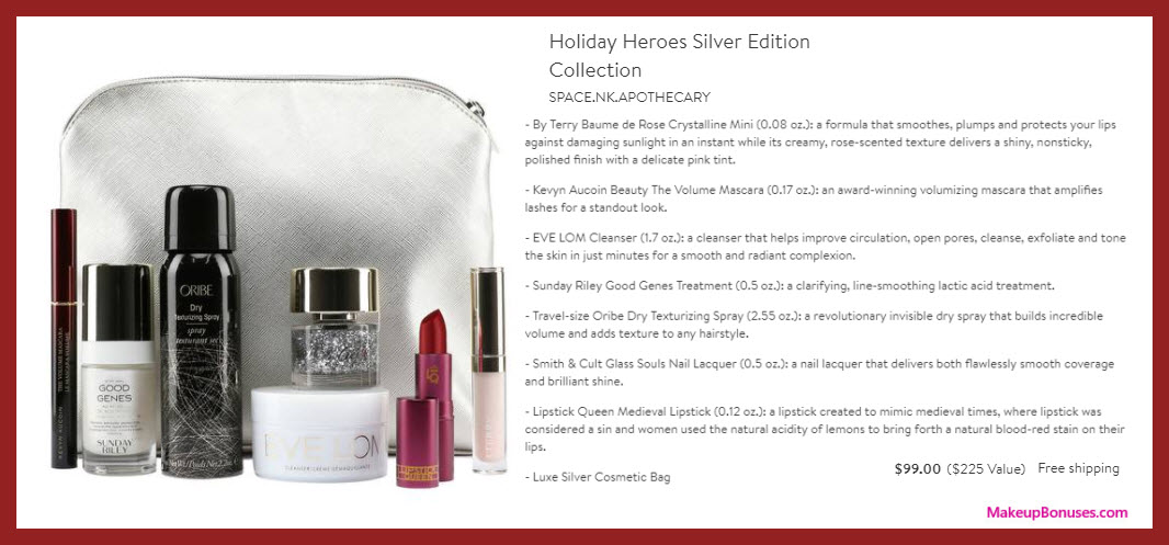 Holiday Heroes Silver Edition Collection - MakeupBonuses.com