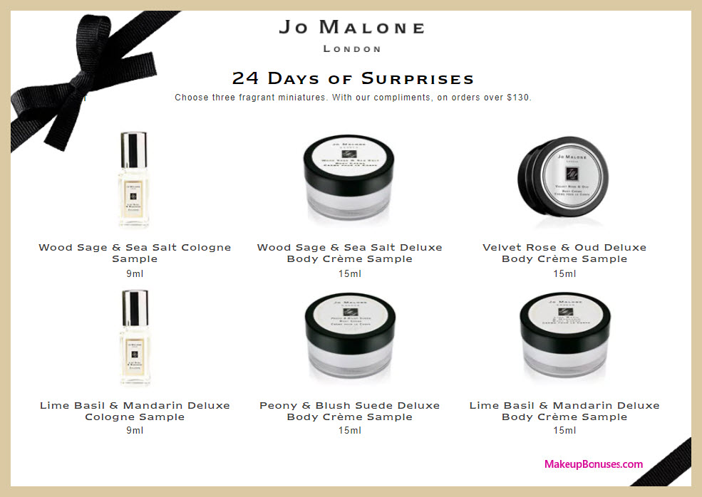 Receive your choice of 3-pc gift with your $130 Jo Malone purchase