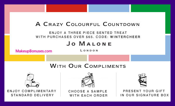 Receive a free 3-pc gift with your $65 Jo Malone purchase