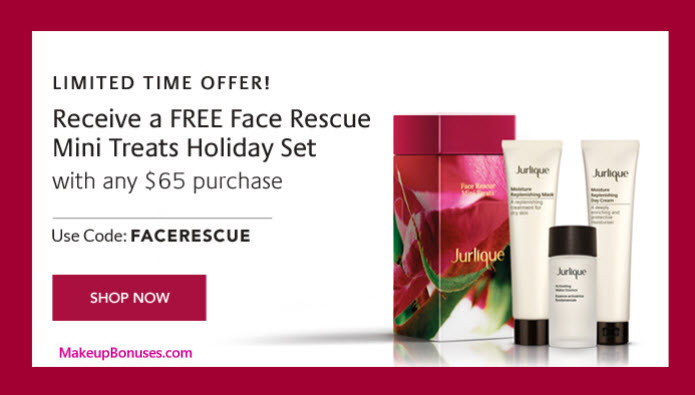 Receive a free 3-pc gift with your $65 Jurlique purchase