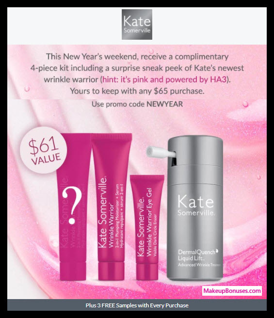 Receive a free 4-pc gift with $65 Kate Somerville purchase
