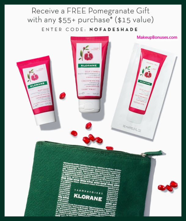 Receive a free 4-pc gift with your $55 Klorane purchase