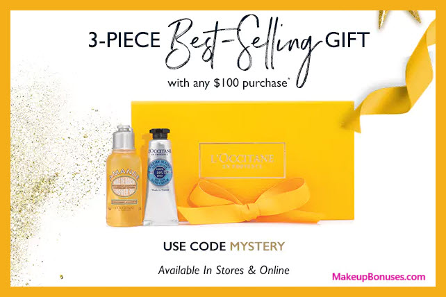 Receive a free 3-pc gift with your $100 L'Occitane purchase