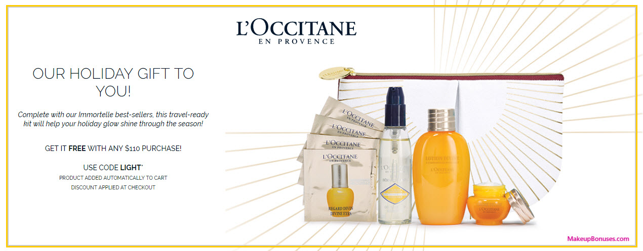 Receive a free 8-pc gift with your $110 L'Occitane purchase