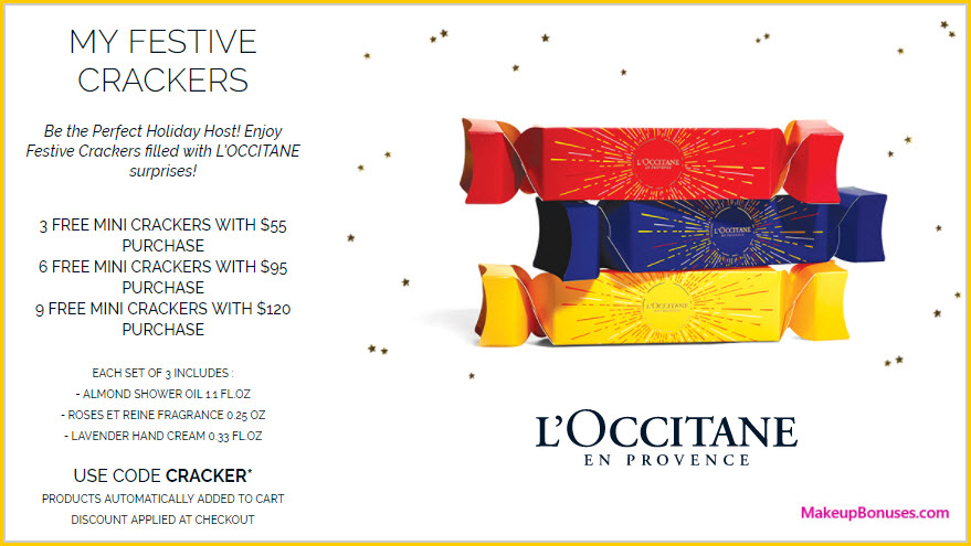 Receive a free 3-pc gift with your $55 L'Occitane purchase