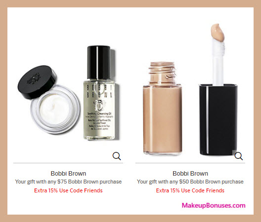 Receive a free 3-pc gift with your $75 Bobbi Brown purchase