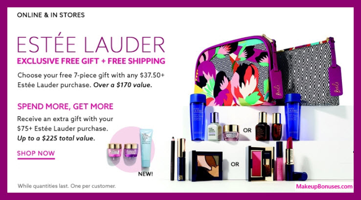 Receive a free 10-pc gift with $75 Estée Lauder purchase