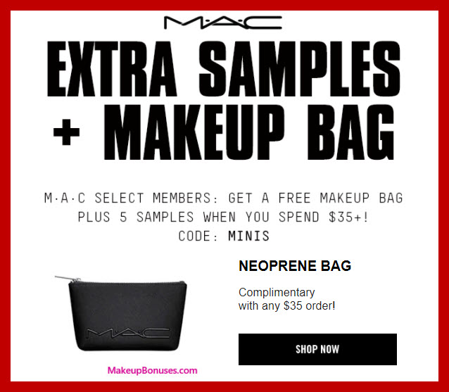 mac cosmetics 6 piece free bonus gift makeup bonuses. Black Bedroom Furniture Sets. Home Design Ideas