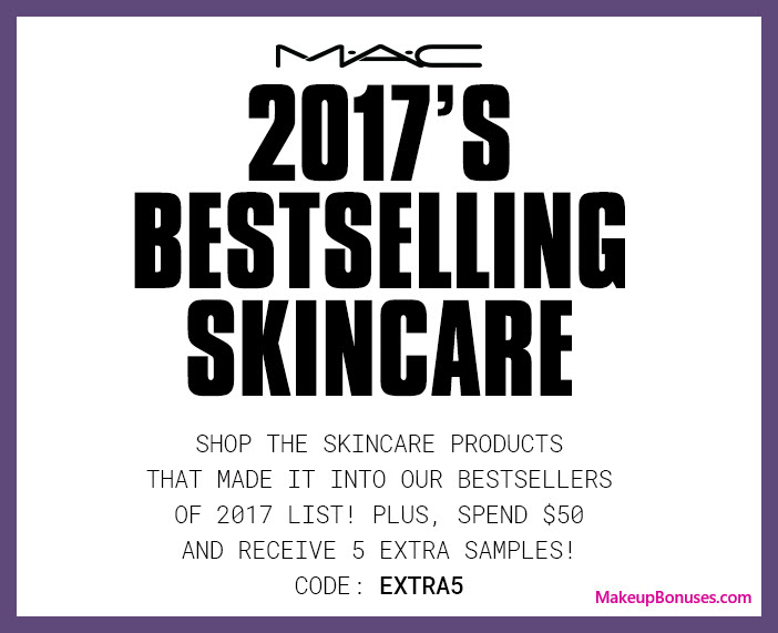 Receive a free 5-pc gift with $50 MAC Cosmetics purchase