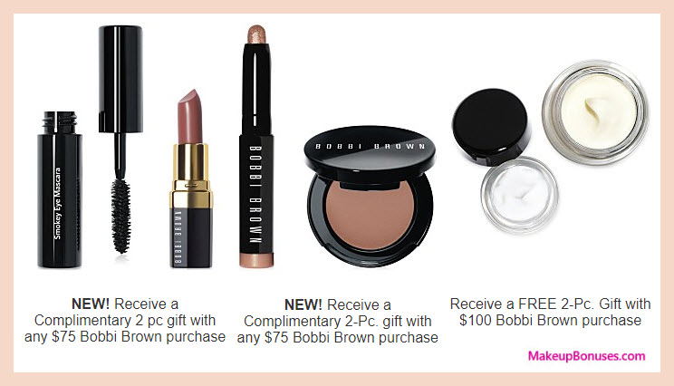 Receive a free 4-pc gift with your $75 Bobbi Brown purchase