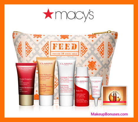 Receive a free 7-pc gift with $75 Clarins purchase
