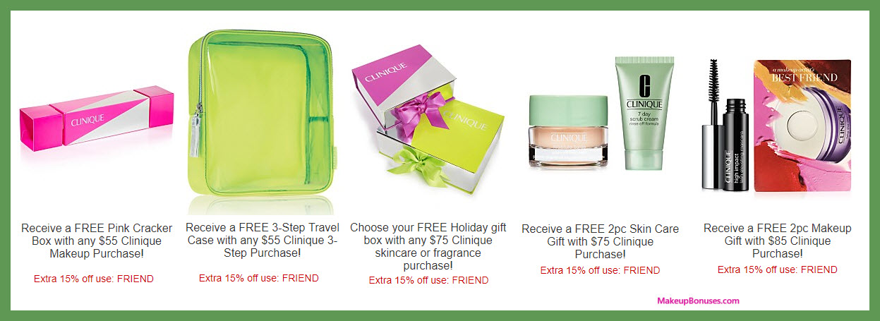 Receive a free 3-pc gift with your $75 Clinique purchase