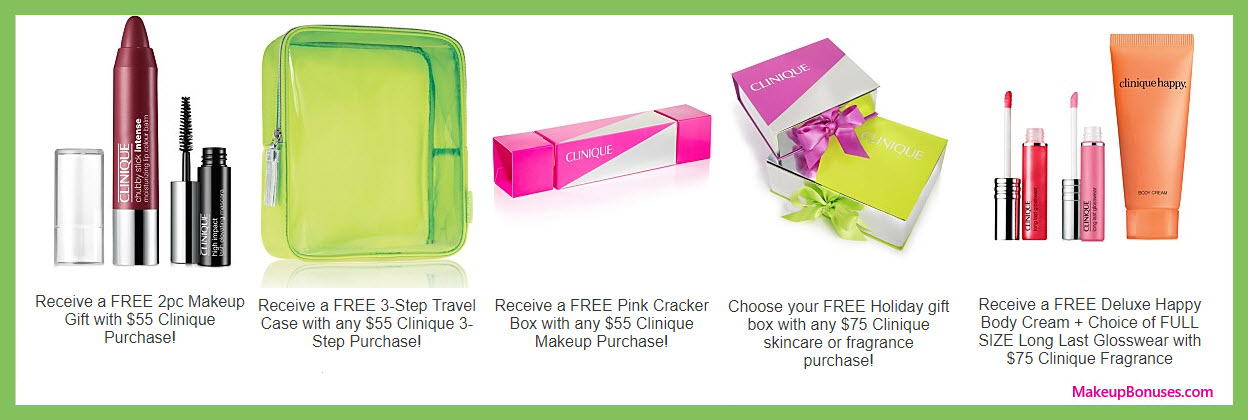 Receive a free 4-pc gift with your $55 Clinique purchase