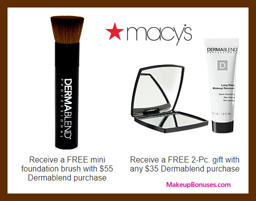 Receive a free 3-pc gift with $55 Dermablend purchase