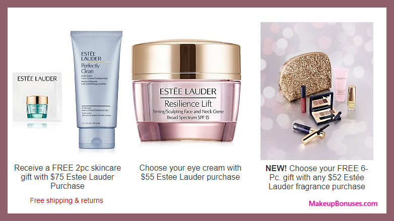 Receive a free 3-pc gift with your $75 Estée Lauder purchase
