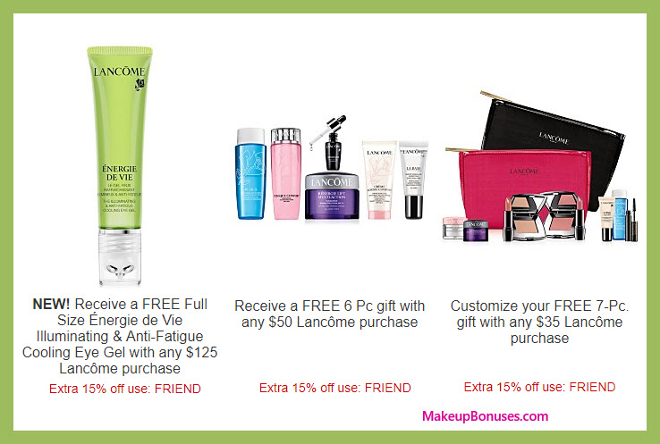 Receive a free 7-pc gift with your $35 Lancôme purchase