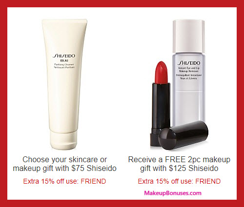 Receive a free 3-pc gift with your $125 Shiseido purchase