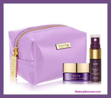 Receive a free 3-pc gift with your $90 Tarte purchase