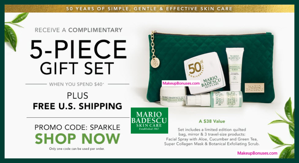 Receive a free 5-pc gift with $40 Mario Badescu purchase
