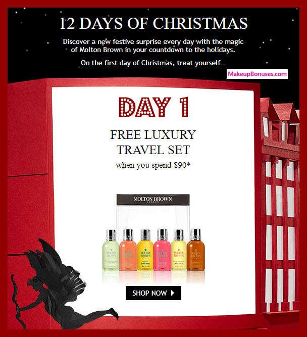 Receive a free 6-pc gift with your $90 Molton Brown purchase