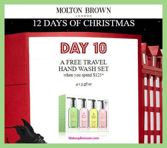 Receive a free 4-pc gift with your $125 Molton Brown purchase