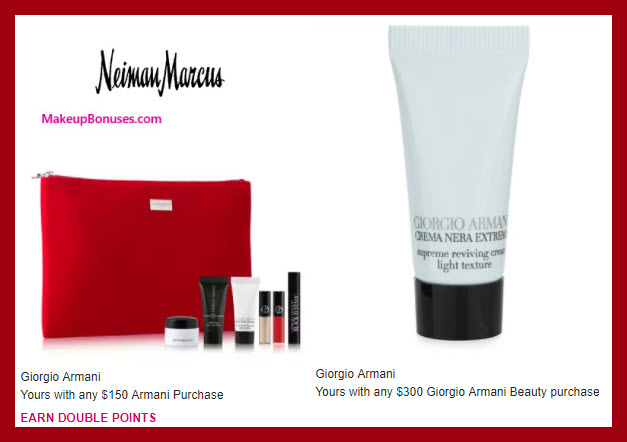 Receive a free 6-pc gift with your $150 Giorgio Armani purchase