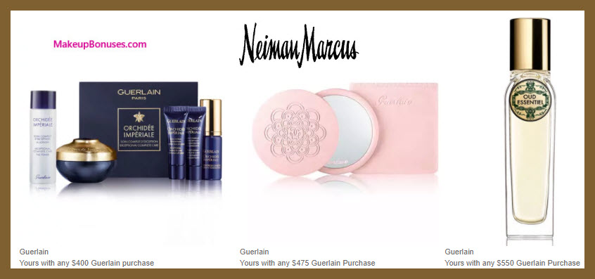 Receive a free 5-pc gift with your $400 Guerlain purchase