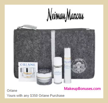 Receive a free 4-pc gift with your $350 Orlane purchase