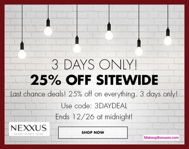 Nexxus Sale - MakeupBonuses.com