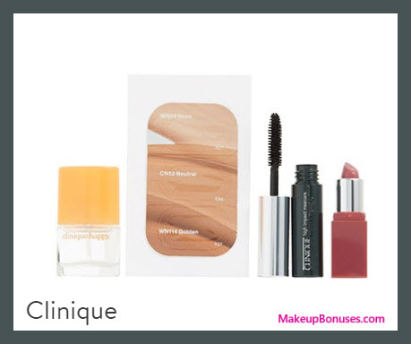Receive a free 4-pc gift with your $35 Clinique purchase