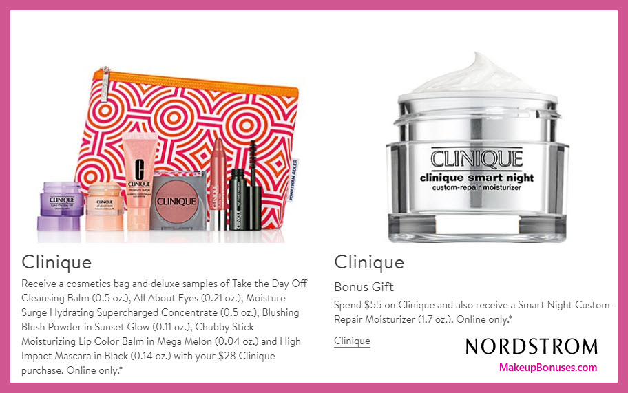 Receive a free 6-pc gift with $28 Clinique purchase
