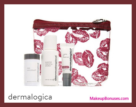 Receive a free 4-pc gift with your $80 Dermalogica purchase