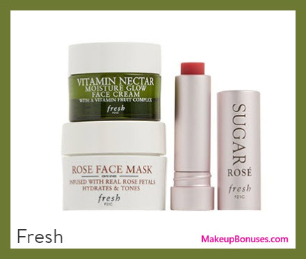 Receive a free 3-pc gift with your $75 Fresh purchase