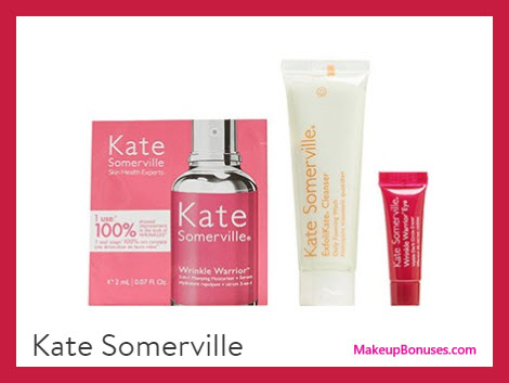 Receive a free 3-pc gift with your $120 Kate Somerville purchase