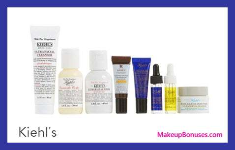Receive a free 8-pc gift with your $125 Kiehl's purchase