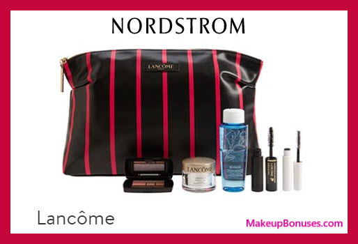 Receive a free 6-pc gift with $39.5 Lancôme purchase
