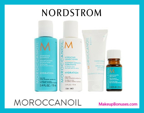 Receive a free 4-pc gift with $100 Moroccanoil purchase